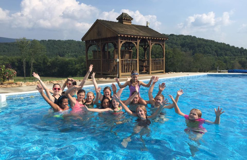 Outdoor pool at A Tennessee Guest Ranch.