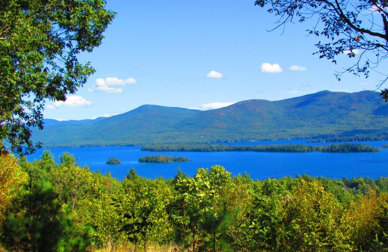 View of the lake at The Depe Dene Resort.