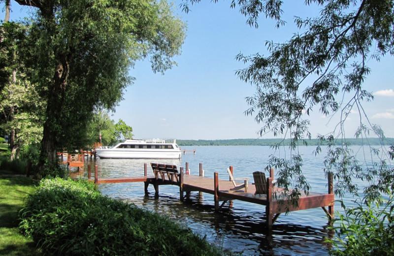 Lake view at Heidel House Resort.