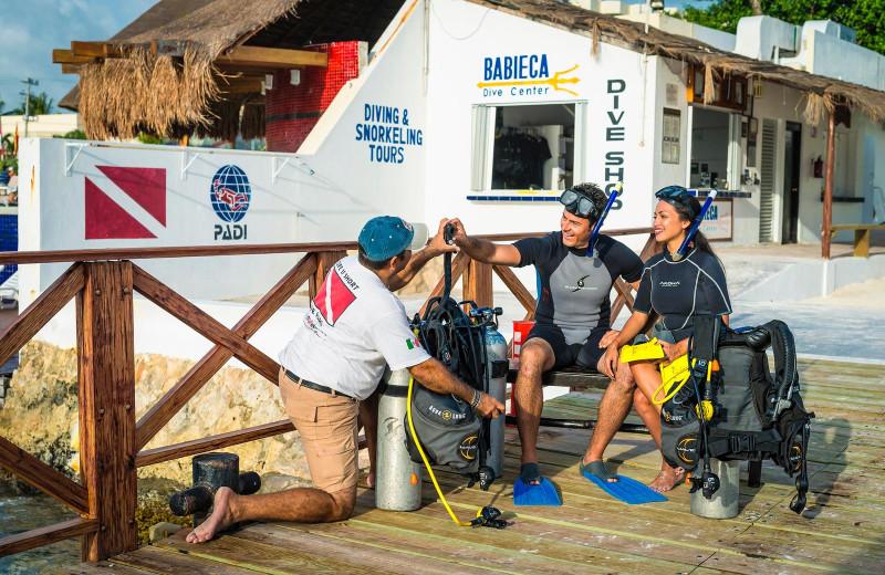 Diving at El Cid La Ceiba.