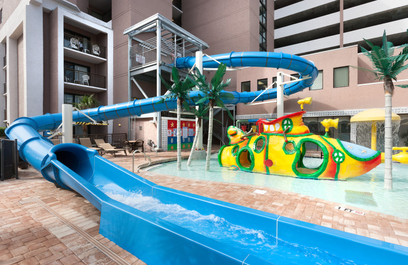 Water slide at Long Bay Resort.
