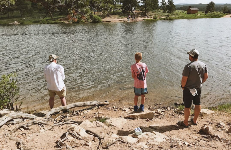 Fishing at Sundance Trail Guest Ranch.