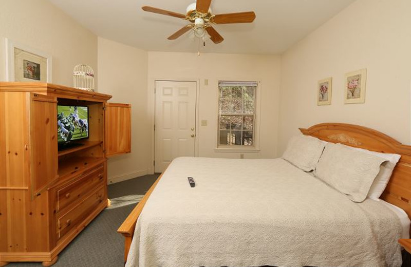 Rental bedroom at Smoky Mountain Resort Lodging and Conference Center.