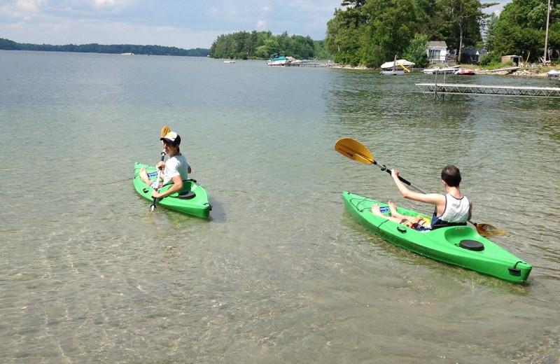 Kayaking at Sandy Beach at Otter Lake.