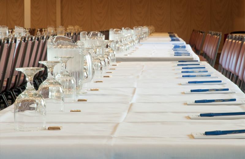 Meeting table at Lake Morey Resort.