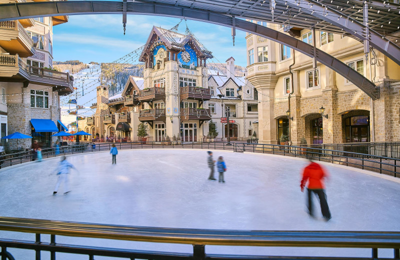 Ice skating at Arrabelle at Vail Square, A RockResort.