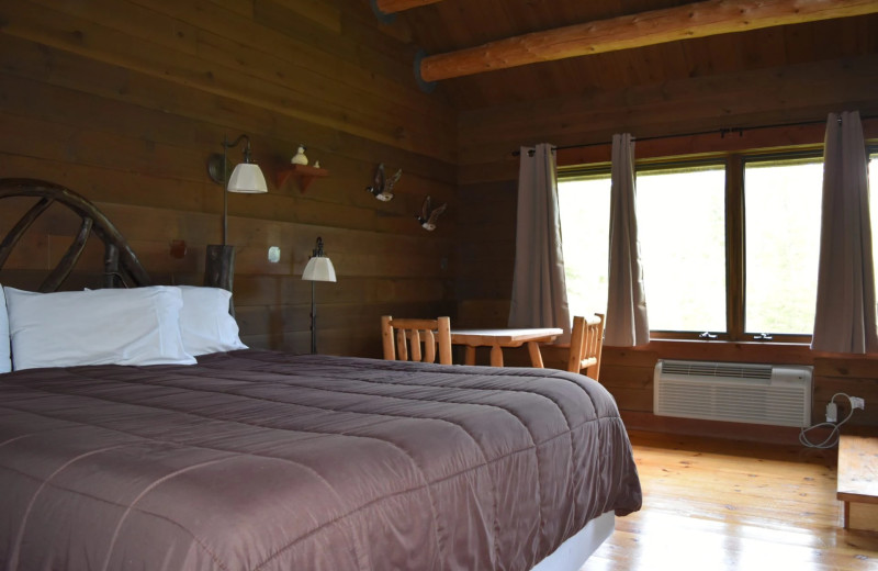 Guest room at Drummond Island Resort and Conference Center.