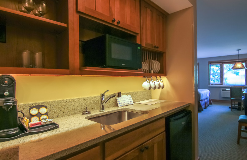 Guest kitchen at Crystal Mountain Resort.