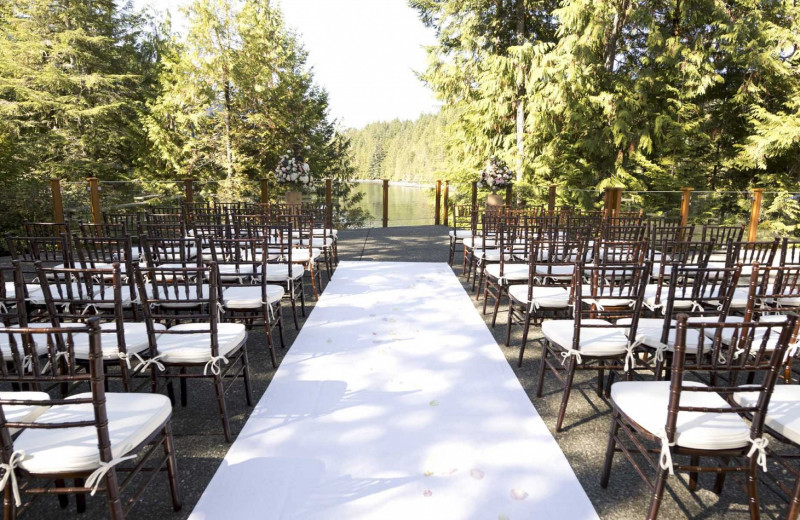 Wedding ceremony at Sonora Resort and Conference Centre, Canada.