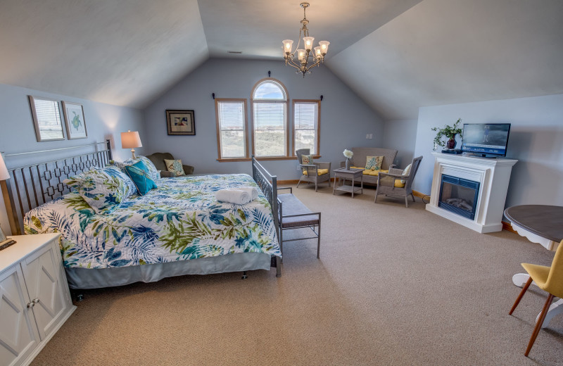 Rental bedroom at Outer Banks Blue Vacation Rentals.