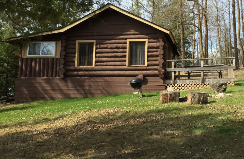 Cabin exterior at Blackduck Lodge & Resort.
