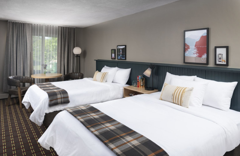 Guest room at Roaring Brook Ranch Resort & Conference Center.