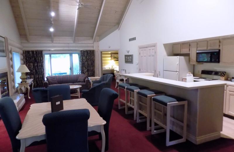 Villa interior at Garland Lodge and Resort.