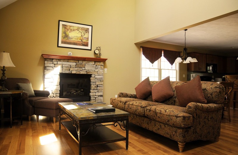 Guest living room at Woodloch Resort.