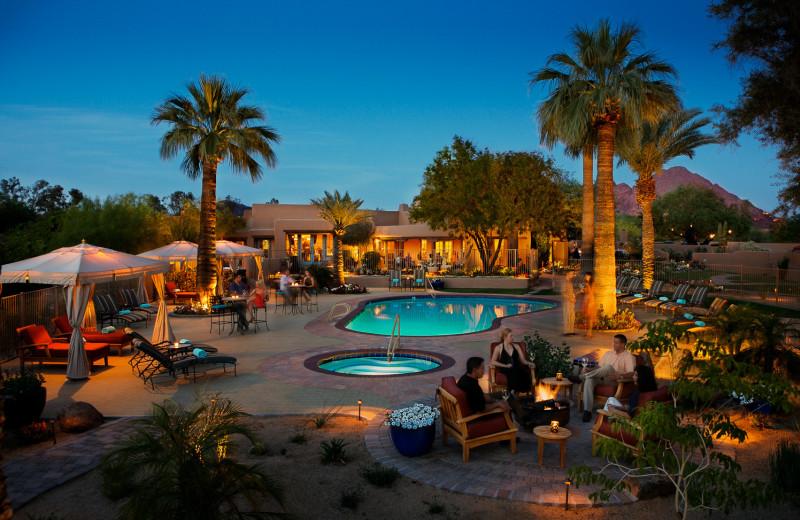 Outdoor pool at Hermosa Inn.