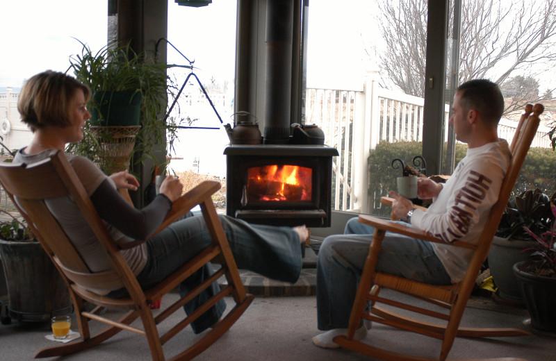 Relaxing at Annville Inn.