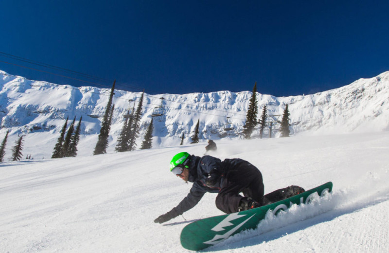Snowboarding at Fernie Central Reservations.
