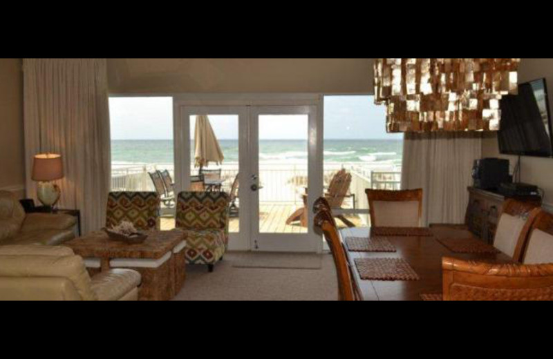 Rental living room at Pensacola Beach Vacation Rentals & Sales.