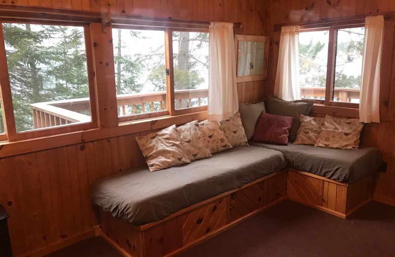 Cabin interior at Timber Trail Lodge.