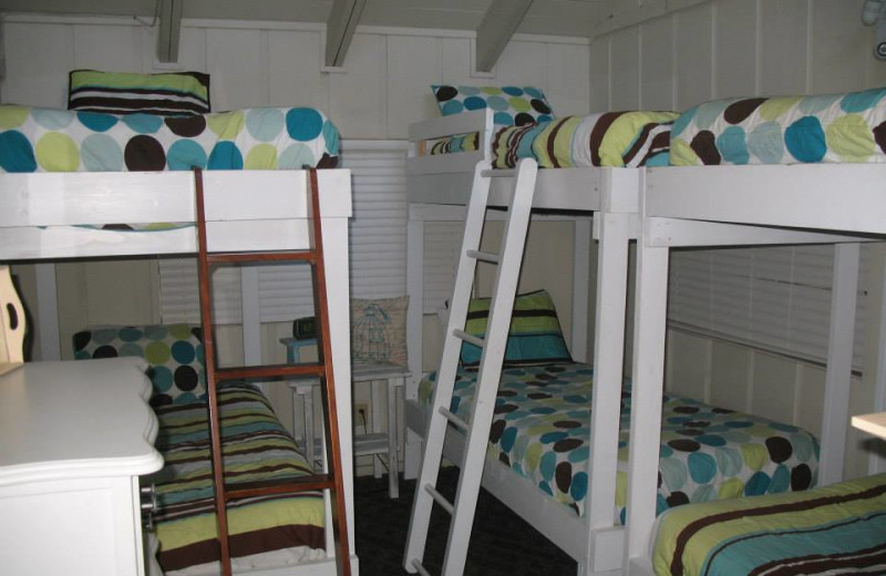 Rental bedroom at Red Apple Inn and Country Club.