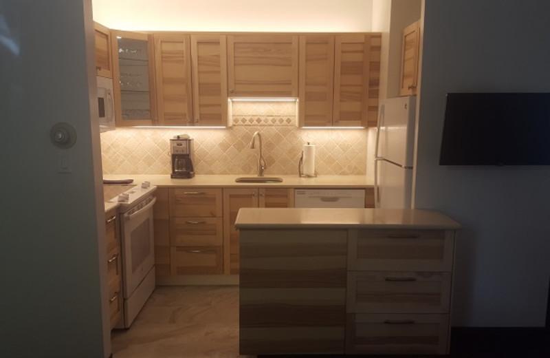Guest kitchen at St. Moritz Lodge