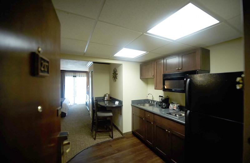 Guest kitchenette at Fourwinds Resort & Marina.
