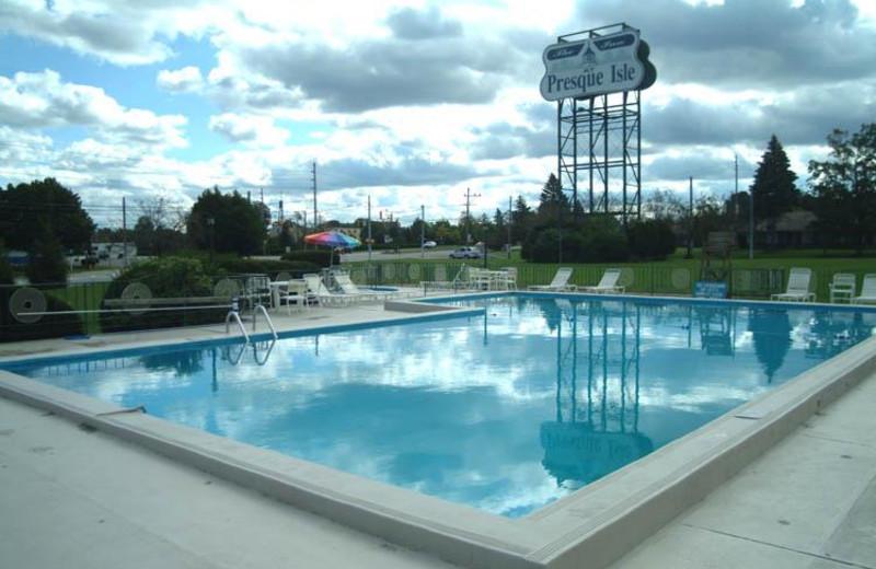 Outdoor pool at Inn at Presque Isle.