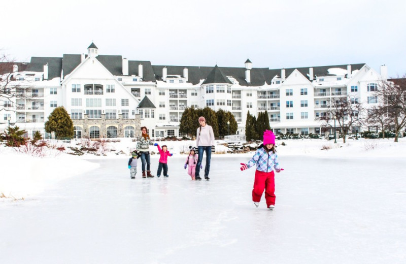 Winter activities at The Osthoff Resort.