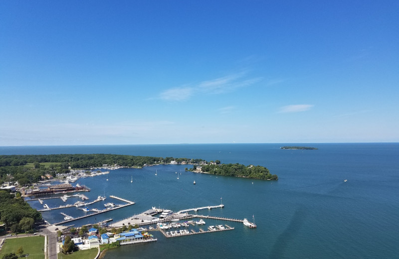Downtown Put-in-Bay as seen from the Monument