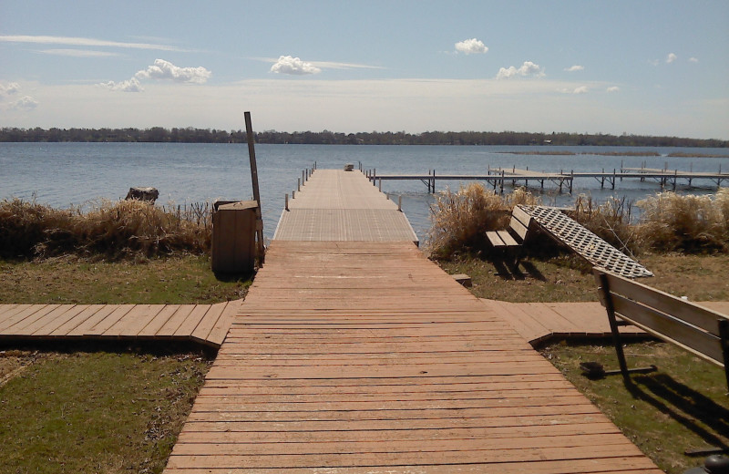 The dock at Arrowwood Resort.