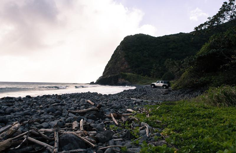 Beach at Travaasa Hana.