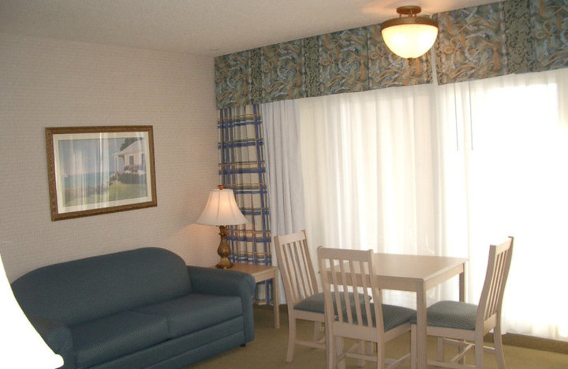 Guest room at Virginia Beach Resort Hotel.