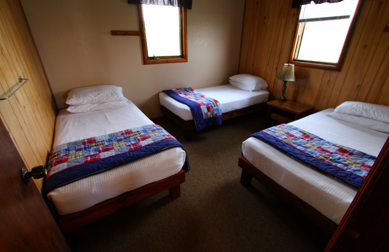 Guest bedroom at Angle Outpost Resort & Conference Center.