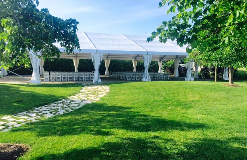 Event tent at Sawmill Creek Golf Resort & Spa.