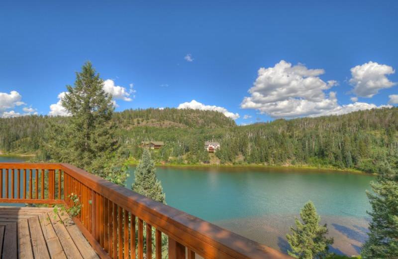 Rental lake view at Hill Country Lake House.
