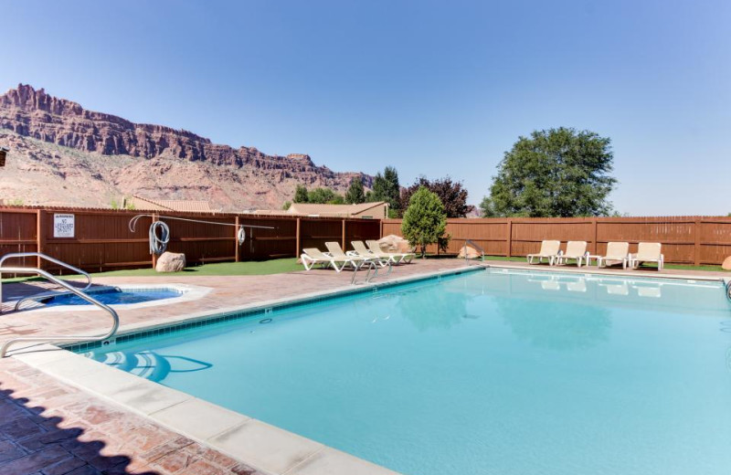 Rental pool at Moab Condo Rentals.