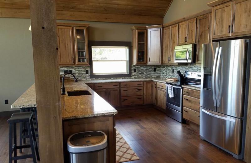 Guest kitchen at Antlers Resort.
