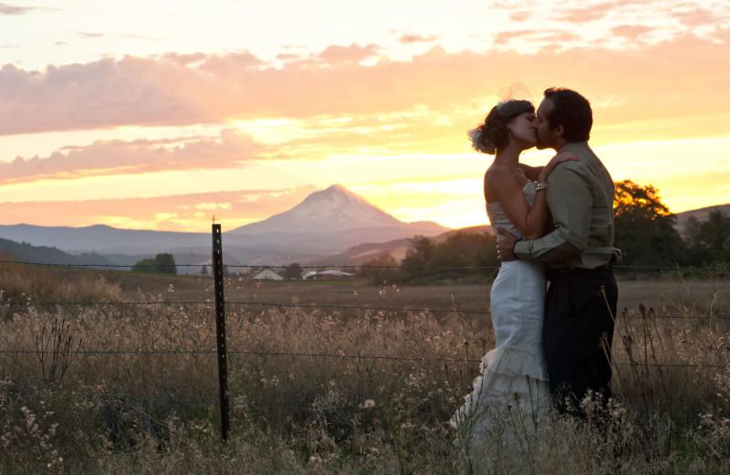 Wedding couple at Balch Hotel.