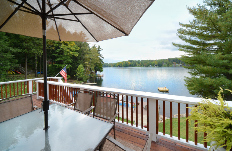 Rental deck at Vacation Rentals by
