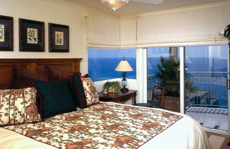 Guest room at Sunset Cove Villas.