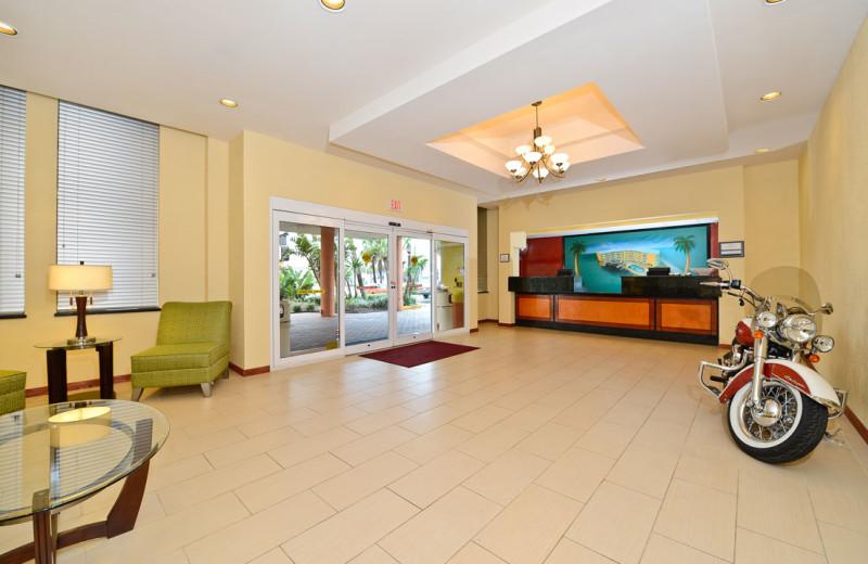 Lobby at Daytona Beach Shores Hotel.