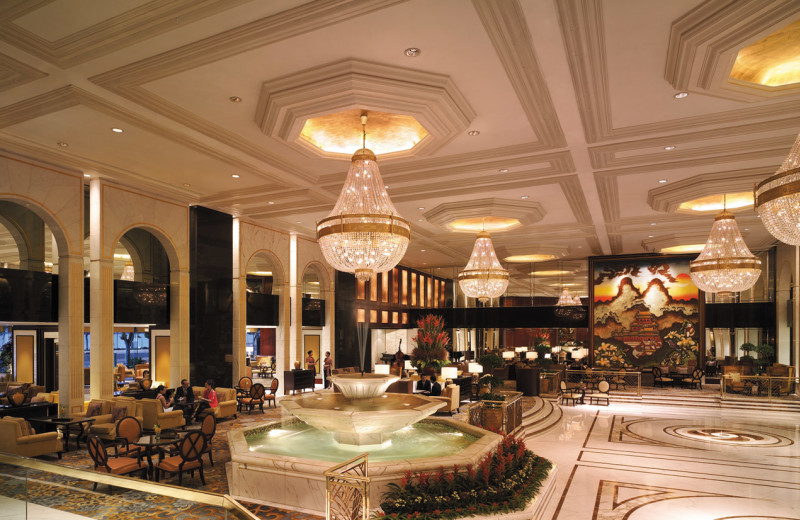 Lobby at Kowloon Shangri-La.