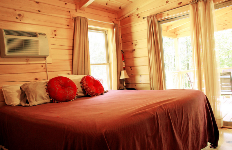 Cabin bedroom at ACE Adventure Resort.