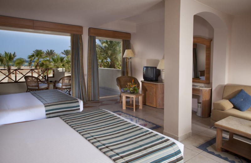 Guest room at Coral Beach Resort.