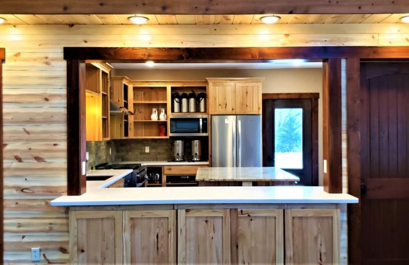 Rustic Hearth Event Center kitchen at at Cedar Valley Resort.