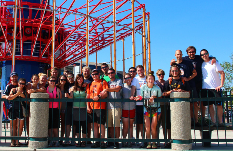 MS Bike group at Cedar Point Resort.
