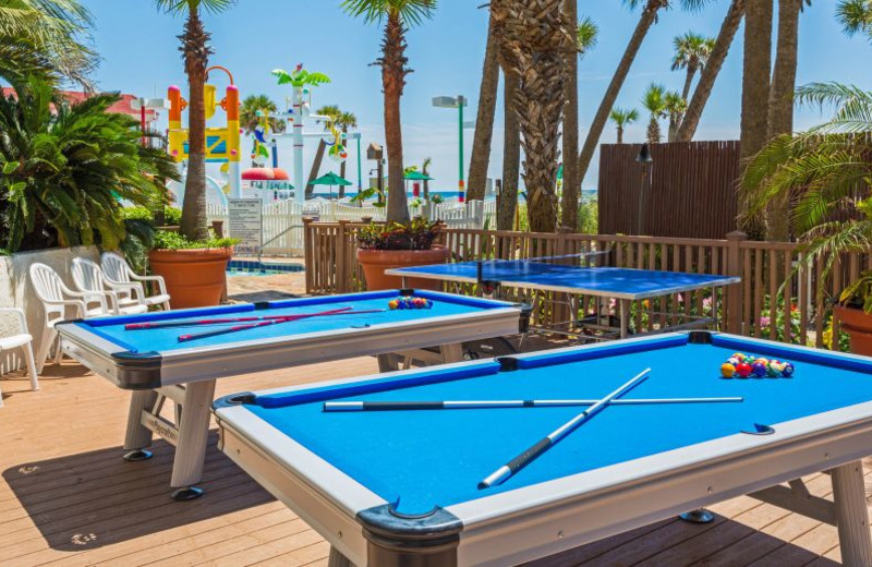 Billiard tables at Holiday Inn Resort Panama City Beach.