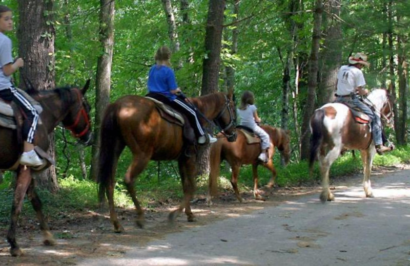 Horseback riding at Nantahala Village.