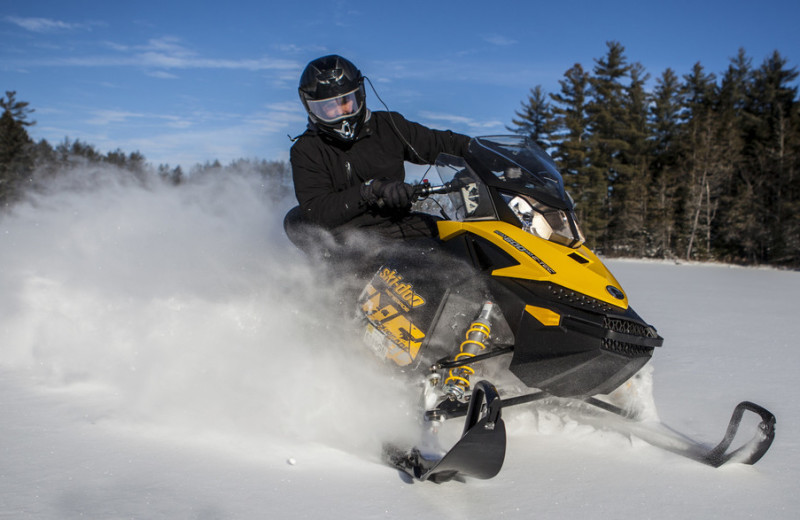 Snowmobiling at Northwoods Inn.