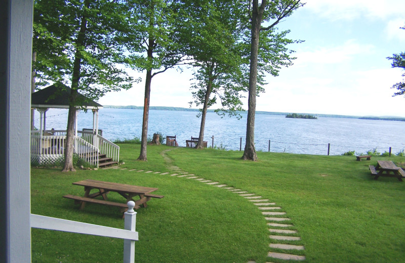 Lake view at Chamberlin's Ole Forest Inn.
